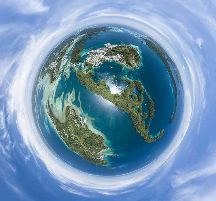 Tiny Planet aerial photo 360 degree Virtual reality