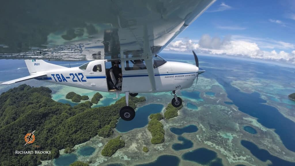 charter aircraft filming in Palau