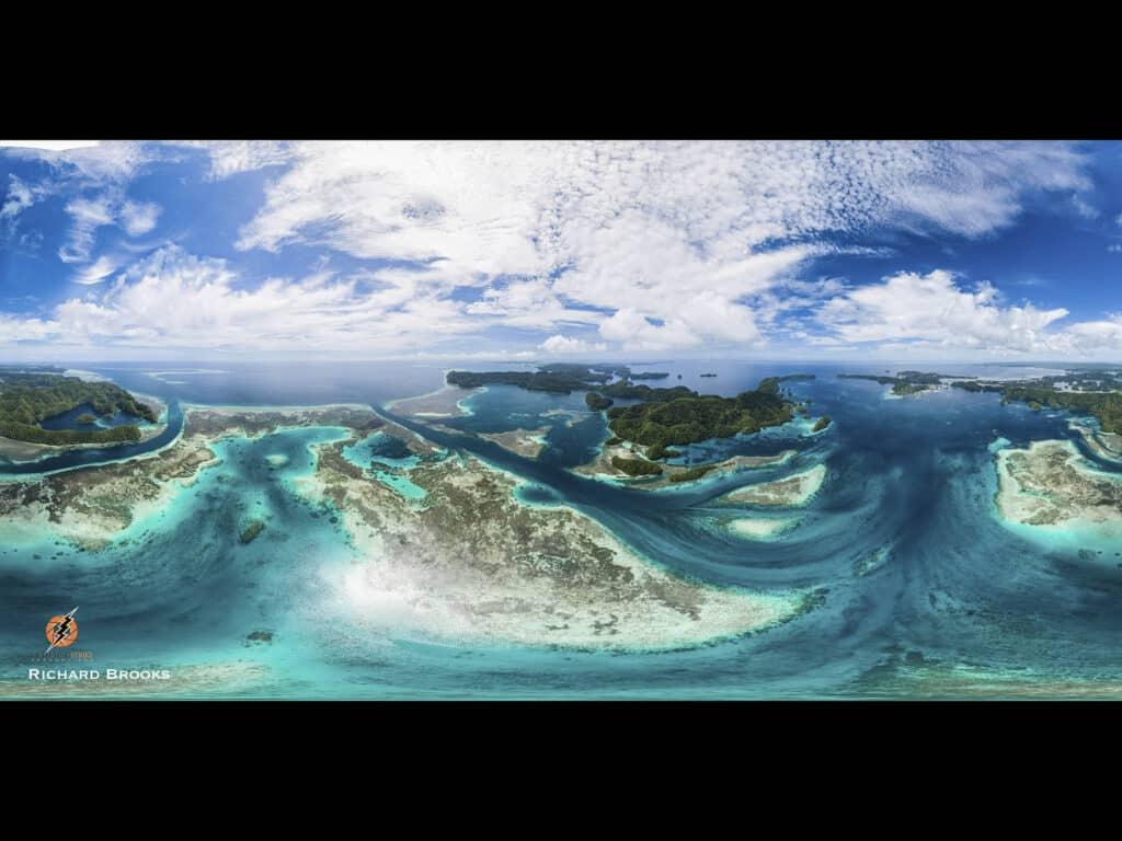 Aerial 360 Virtual reality Palau