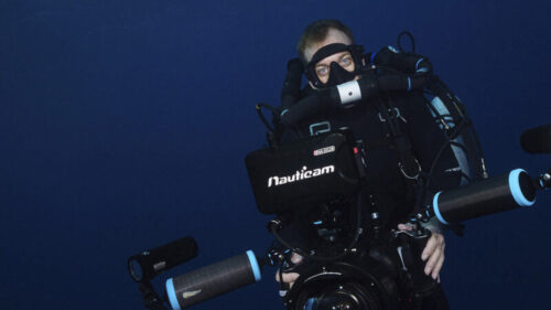Underwater cameraman Palau Richard Brooks rebreather diver