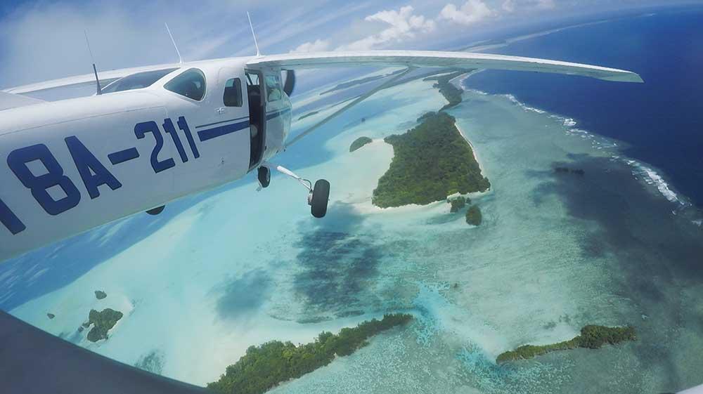 external camera mounted on aircraft Palau action camera