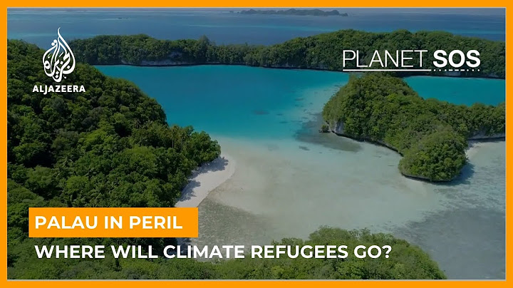 AlJazeera Planet SOS aerial shot of Palau islands